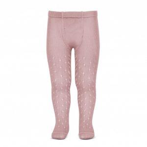 Leotardos Calados rosa