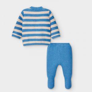 Conjunto polaina rayas tricot