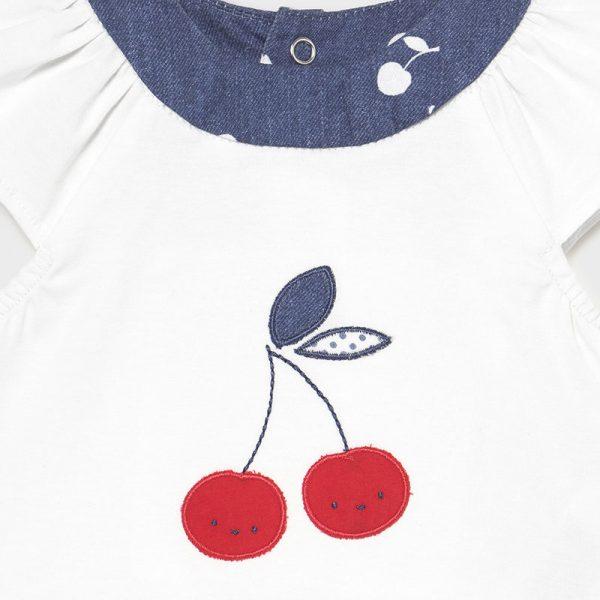 Conjunto culetin y camisa cerezas