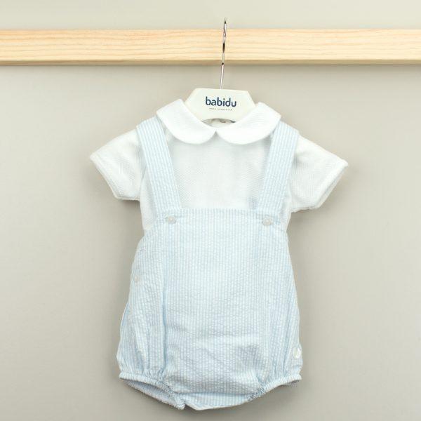 Conjunto Pelele Rayas y Camiseta