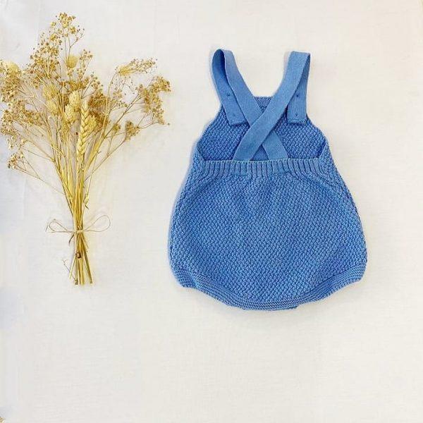 Ranita Manga Corta Punto Bolsillo Azul