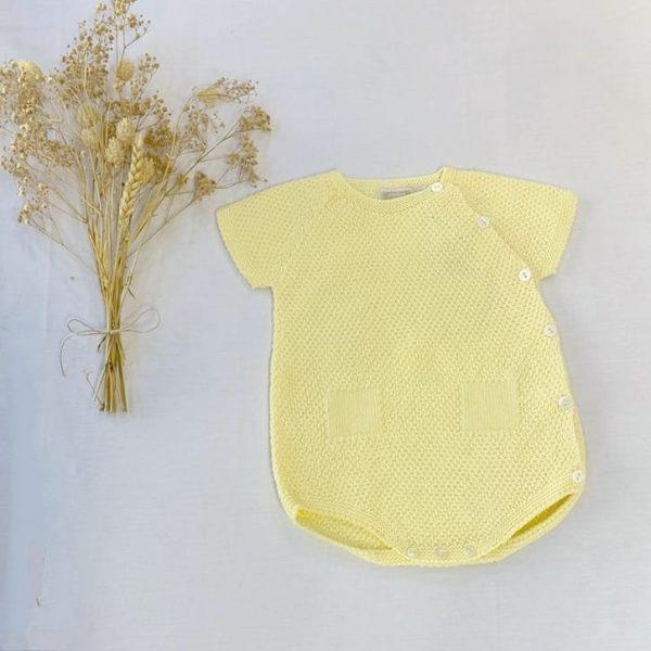 Ranita Manga Corta Punto Arroz Amarillo