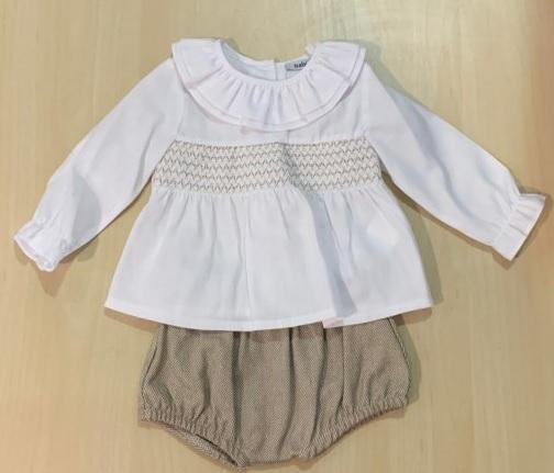 Conjunto Camisa Nido y Culetín Espiga