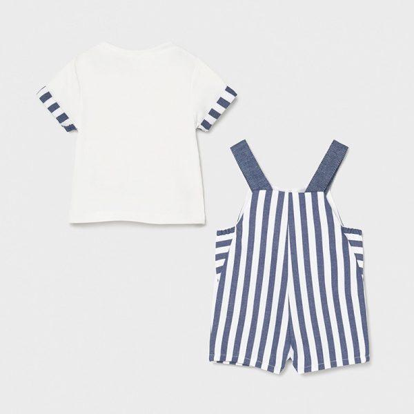 Conjunto peto rayas y camiseta
