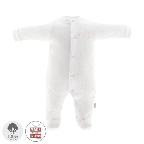 Pelele largo Pijama algodón Blanco