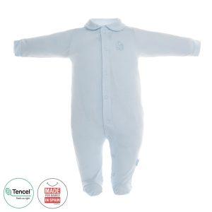 Pelele Largo pijama tencel Celeste