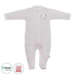 Pelele Largo pijama tencel cuello Blanco Luna