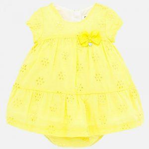 Vestido amarillo perforado pulmeti
