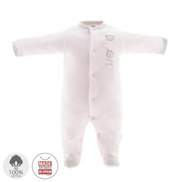Pelele largo pijama algodón rosa