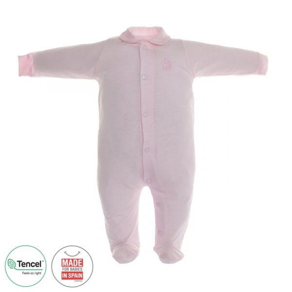 Pelele largo basico pijama tencel rosa