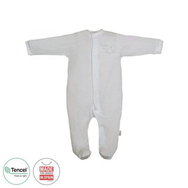 Pelele largo botón pájaro pijama tencel