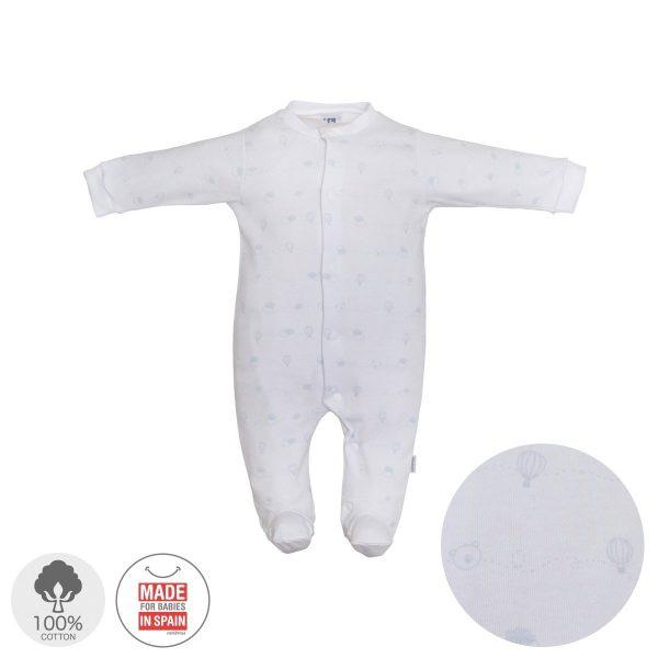 Pelele largo Pijama algodón Celeste
