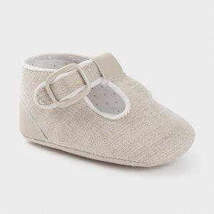 Zapatos tipo pepito crudo