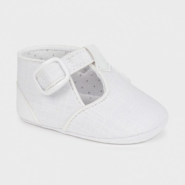 Zapatos de tipo pepito blanco