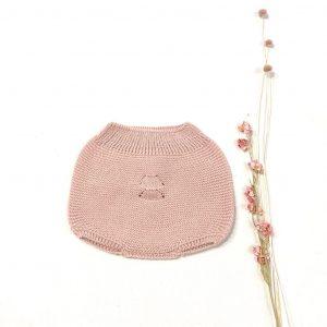 Culetín de invierno elaborado en punto de dralón rosa palo