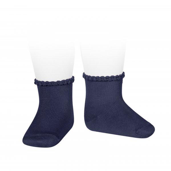 Calcetines cortos puño labrado primavera azul marino Cóndor