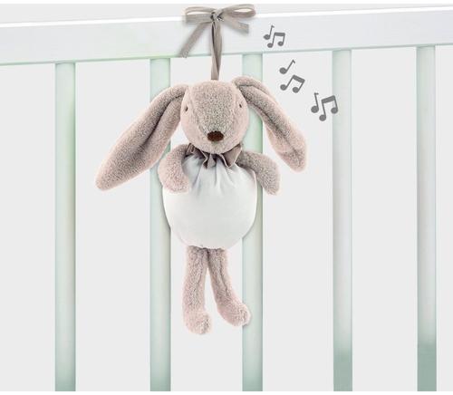 Conejo Musical pasito a pasito beige desde el nacimiento