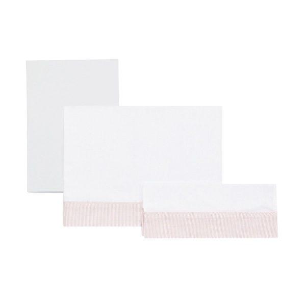Sábana cuna 3 piezas (cuna 60) rosa