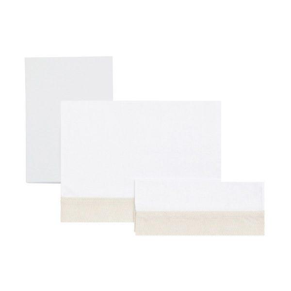 Sábana cuna 3 piezas (cuna 70) 120 x 180 cm beige
