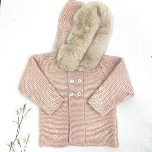 Abrigo, capucha pelo invierno
