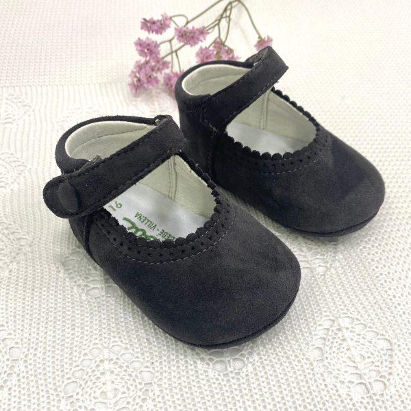Zapato mercedita serraje antracita