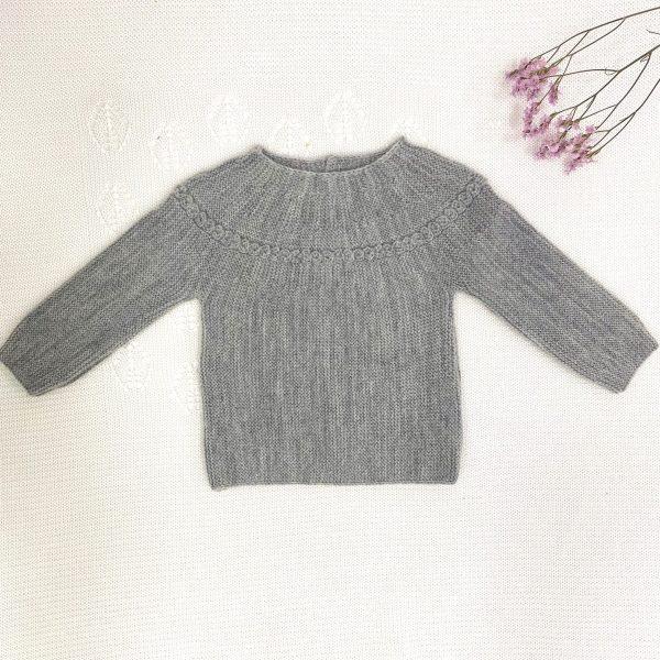 Jersey manga larga punto invierno gris