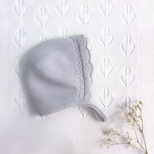 Capota punto invierno básica calada gris claro