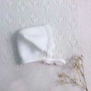 Capota punto invierno básica calada blanco